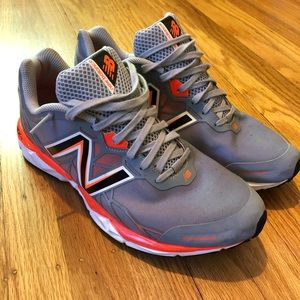New Balance 1490 Running Shoes Gray Orange